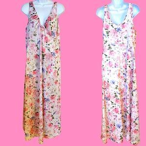Vintage SHADOWLINE Floral Nightgown